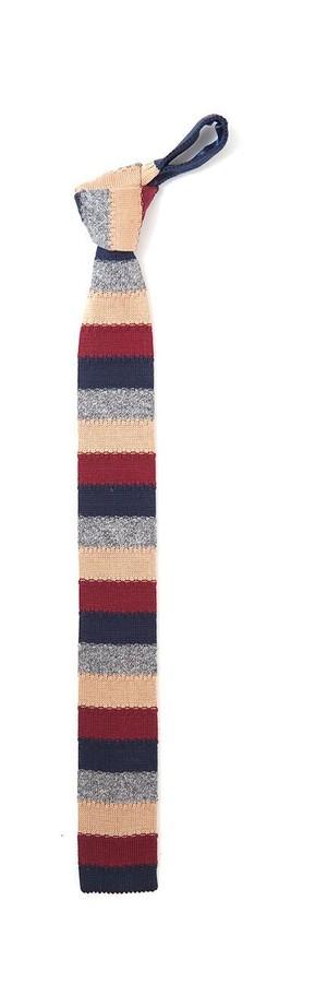 テクスチャ ボーダー ニットタイ Established Texture Stripe