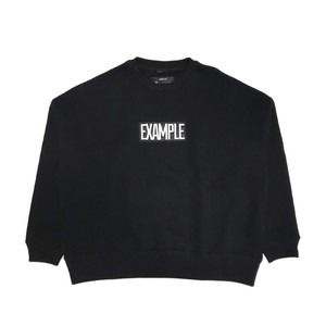 LOGO OVER CREW NECK /BLACK