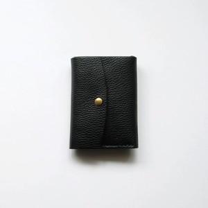 tri-fold wallet - bk - vacchetta