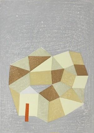 山中現「夢の街で」Yamanaka Gen/woodblock print/sheet