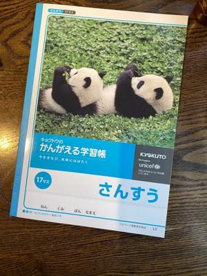岩合さんのパンダが表紙!学習帳 さんすう