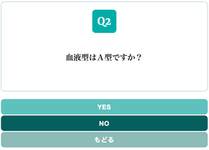 Yes/No Chart BLUE GREEN スタイル