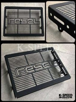 【RB0053】Radiator guard Diablo Black Line For Rebel300(JP250)&500