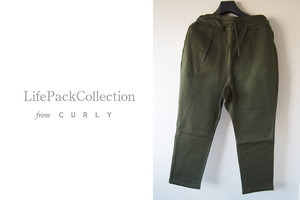 【Sold Out】<ライフ パック コレクション フロム カーリー LIFE PACK COLLECTION from Curly>ルームパンツ カーキ 2