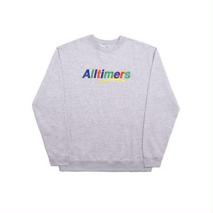ALLTIMERS ESTATE EMBROIDERED CREW HEATHER GREY L