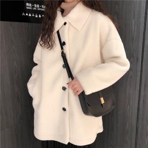 折り襟シングルブレストコート