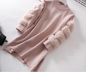 【12月下旬発送予定】トリプルファーニット(Pink)