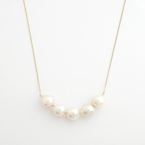 Akoya pearl stream short necklace