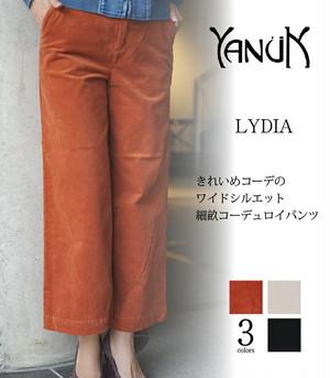 YANUK ヤヌーク  コーデュロイワイドパンツ LYDIA リディア 57173221   日本製/MADE IN JAPAN