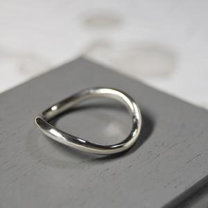 シルバーウェーブプレーンリング 2.0mm幅 鏡面 3号~27号|WKS WAVE PLANE RING 2.0 sv mirror|FA-544
