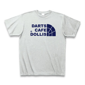 DOLLiSフェイスロゴTシャツ(灰/紺)