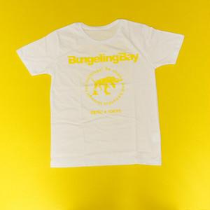 BungelingBay Tシャツ(ホワイト×黄字バックプリントLove&Humor)