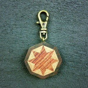 wooden inlaid charm IH-051-EB