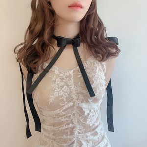 【即納】leather ribbon choker