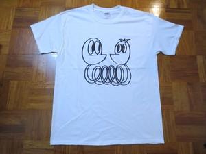 Tシャツ「しゃくれくんとしゃくれちゃん」ホワイト