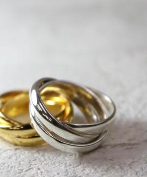 YRGV1803SVR00533【YArKA/ヤーカ】silver925 3layer plate ring [oas]/シルバー925 3レイヤープレートリング