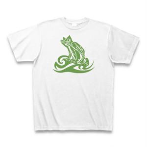 送料無料 トライバル風カエル/フロッグ(Frog)オリジナル メンズTシャツ