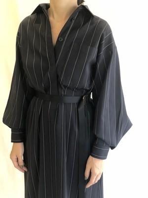 Work shirt dress / Navy strip