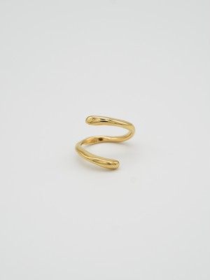 raw snake ring gold