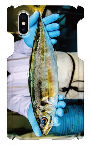 【 iphone X用 】アジ お魚スマホケース 送料込み