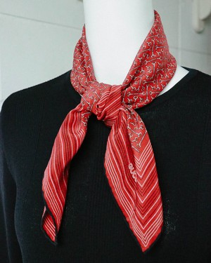 old GUCCI horse bit red scarf