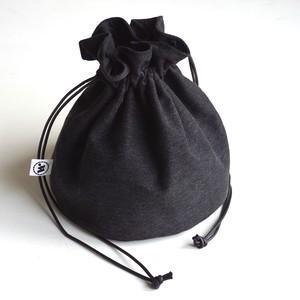 """DRAWSTRING BAG"" Used Black Denim"