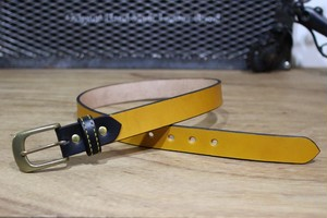 """Color Garrison Belt Nallow"" Yellow"