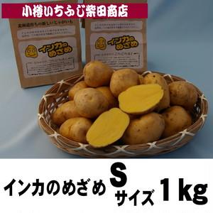 1㎏袋 インカのめざめ Sサイズ 北海道十勝産