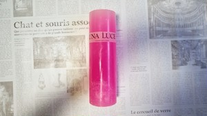 PILLAR CANDLE FLUORESCENCE PINK / 2018 SPRING-SUMMER COLLECTION