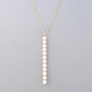 Row multi pearl necklace