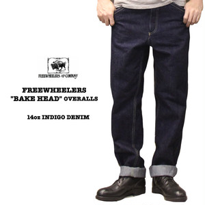 """BAKE HEAD"" OVERALLS FREEWHEELERS/フリーホイーラーズ 14oz INDIGO DENIM Lot 2022004 デニム / ワークパンツ"