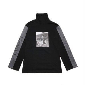 CHRISTIAN DADA - ARAKI Print Turtleneck Shirt  (BLACK) -