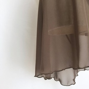 "◇""Tatiana"" Ballet Wrap Skirt -  Olive Brown [Sheer]( オリーブブラウン [シアー])"