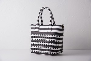confuse(コンフューズ)BAG black×White Border BlackStarstuds
