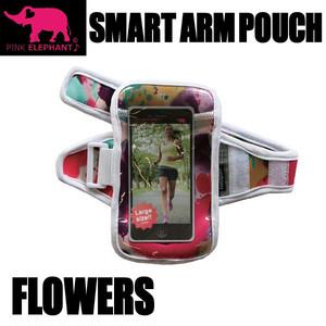 PINK ELEPHANT スマート・アームポーチ Lサイズ フラワー スマホケース