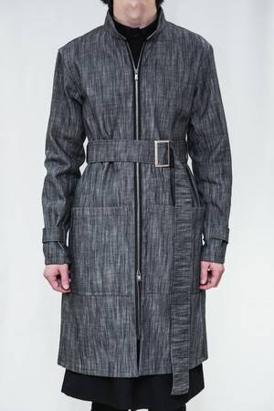 18SS Gun Metal Denim Coat