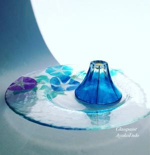 【夏 富士山】おちょこ・日本酒グラス(ぐい呑み)※グラスのみ|敬老の日・両親贈呈品・結婚祝い・誕生日・還暦祝い