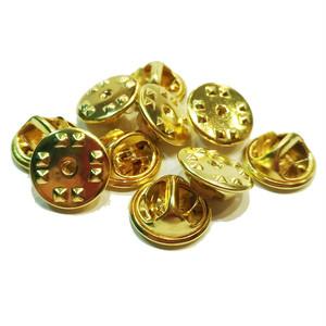ピンバッチ用キャッチャー留め具(バタフライ式)金色10個セット P-000_G10