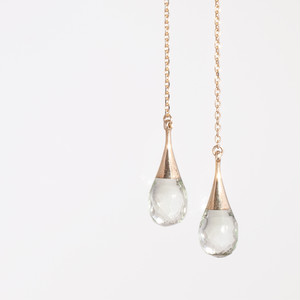 Drop american earrings / Prasiolite