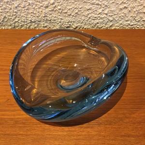ホルムガード ガラス灰皿 ブルー