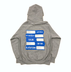 "Qoopath  ""& Location (Spot)"" Hoody ヘザーグレー"