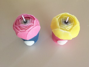 mini flower candle