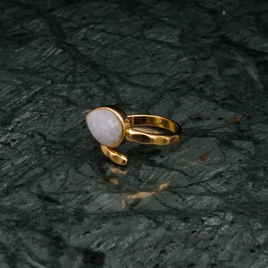 SINGLE STONE OPEN RING GOLD 004