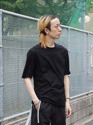 【SALE】rood No Name 強撚天竺Tシャツ black