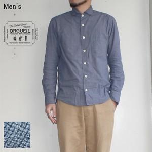 【残り1点】ORGUEIL ウィンザーカラーシャツ Windsor Collar Shirt  OR-5024A (BLUE CHECK)