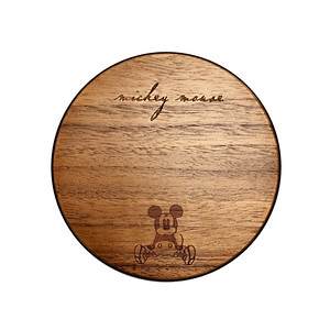 InfoThink 木製 無線充電器 Wireless Charging Pad Qi ディズニー Disney ミッキーマウス Mickey Mouse  iWCQ-100-Mickey