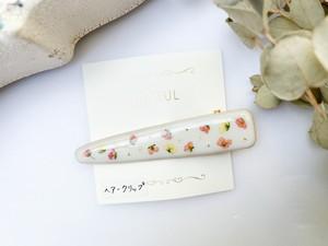 【TILLEUL】花柄のヘアクリップ