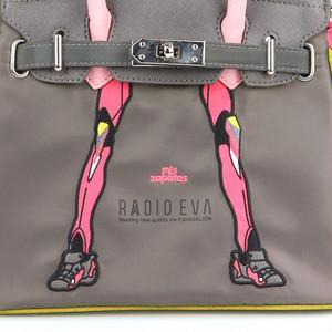 RADIO EVA 698 EVANGELION Small Boston Bag by mis zapatos/ピンク(8号機)/ EVANGELION エヴァンゲリオン