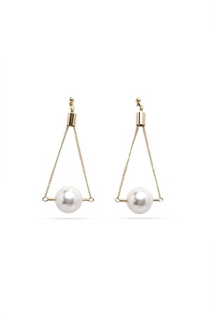 Pipe Pearl Earrings | GOLD