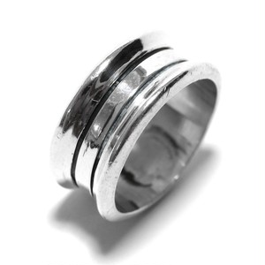 Vintage Sterling Silver Mexican Modern Two Line Ring
